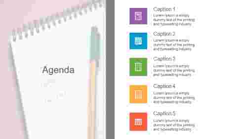 The best  agenda PPT design slide